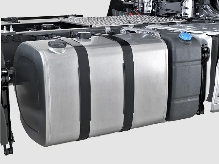 Réservoir d'AdBlue® sur un camion